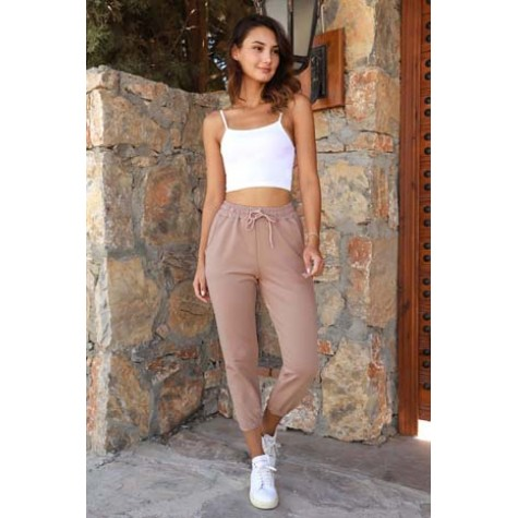 Cream Sweatpants