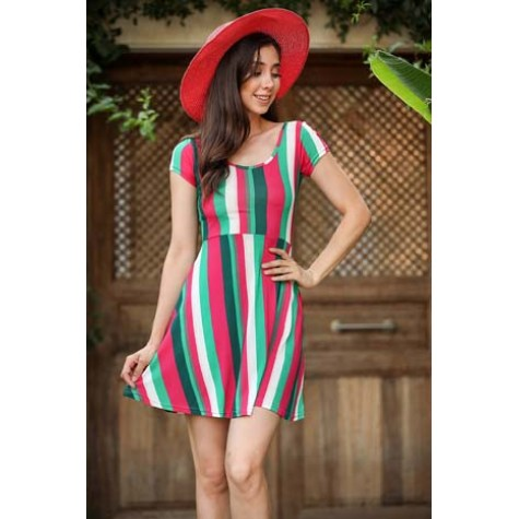 Colorful Pattern Dress