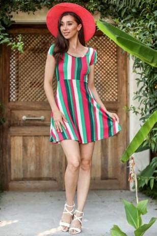 Colorful Pattern Dress