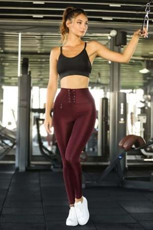 Burgundy Sport Leggings
