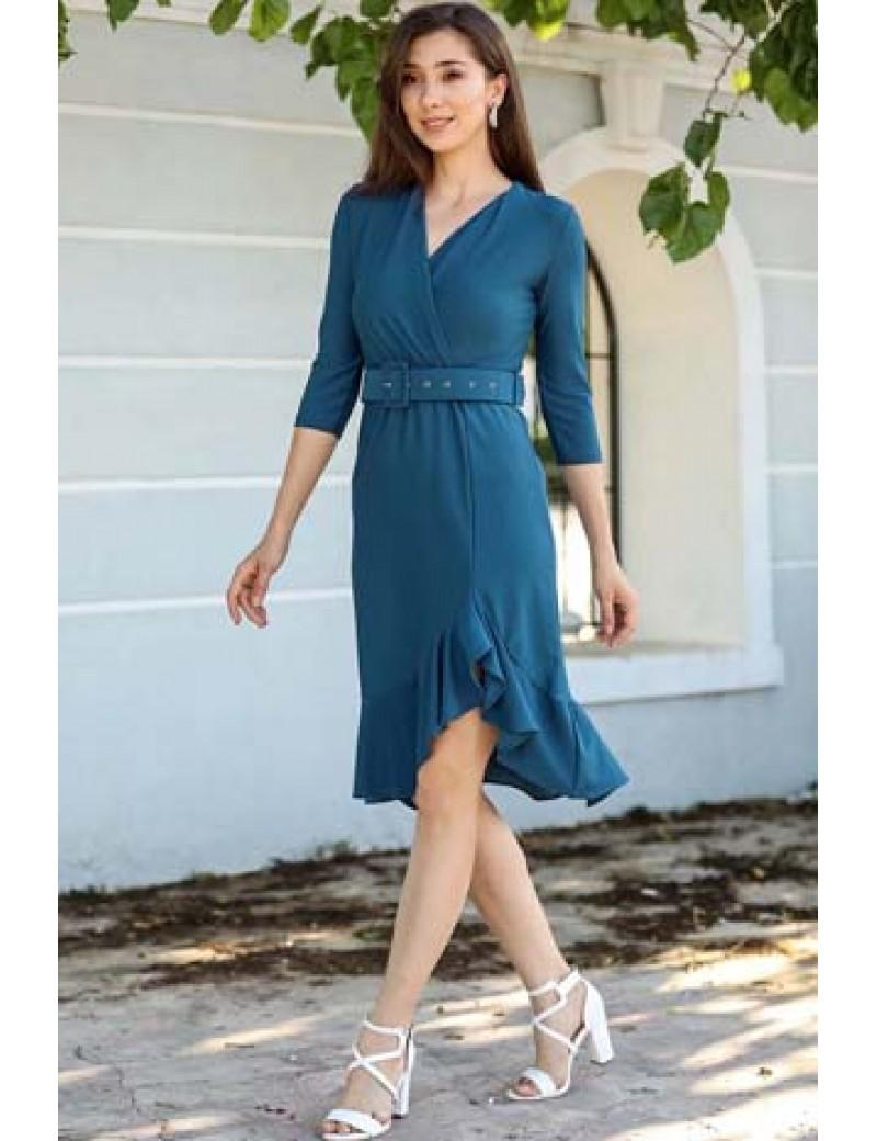 Mavi Şık Elbise