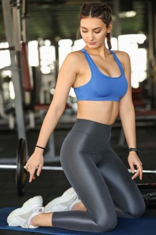 Black Shiny Sport Leggings