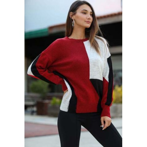 Red Patterned Sweater