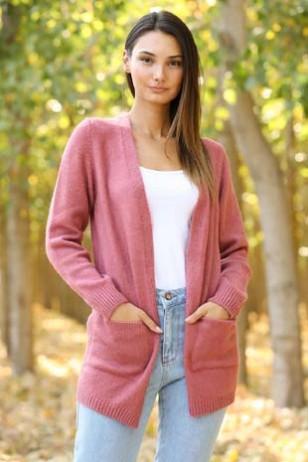 Pink Thin Cardigan