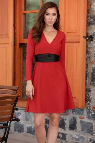 Red Belt Dress